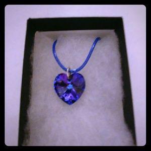 Jewelry - Midnight Purple Crystal Heart Necklace